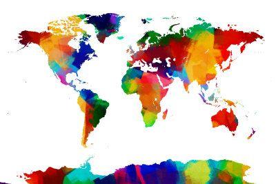 Map of the World Map Digital at ArtistRising.com