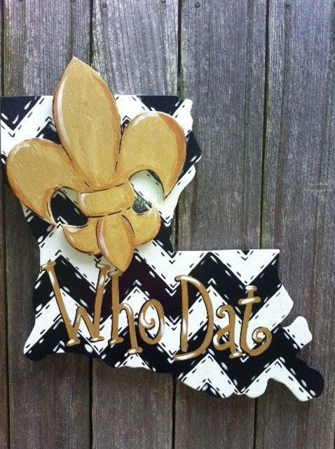 New Orleans Saints Football Who Dat Louisiana Door by Earthlizard, $45.00