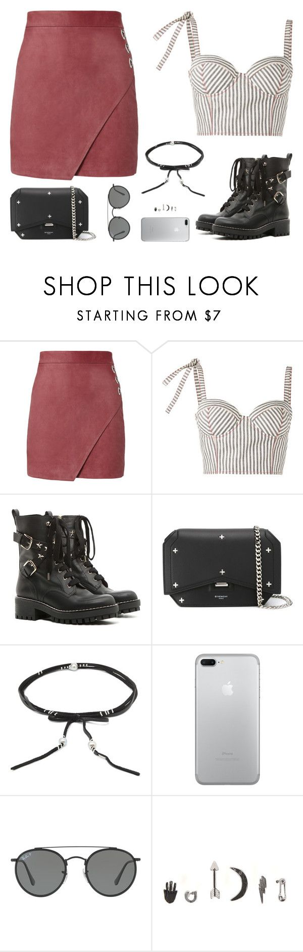 """Sin título #4994"" by mdmsb on Polyvore featuring moda, Michelle Mason, Rosie Assoulin, RED Valentino, Givenchy, Chan Luu, Ray-Ban y With Love From CA"