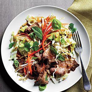 Superfast Salads | Thai Steak Salad | CookingLight.com: Thai Steaks, Steaks Recipes, Salad Recipes, Beef, Food, Cooking Lights, Steaks Salad, Flank Steaks, Steak Salad