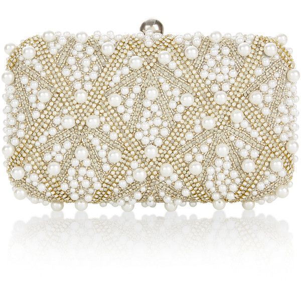 Accessorize The Diana Hardcase Bag (845 SEK) ❤ liked on Polyvore featuring bags, handbags, over the shoulder handbags, accessorize handbags, beaded purse, beaded bags and chain bag
