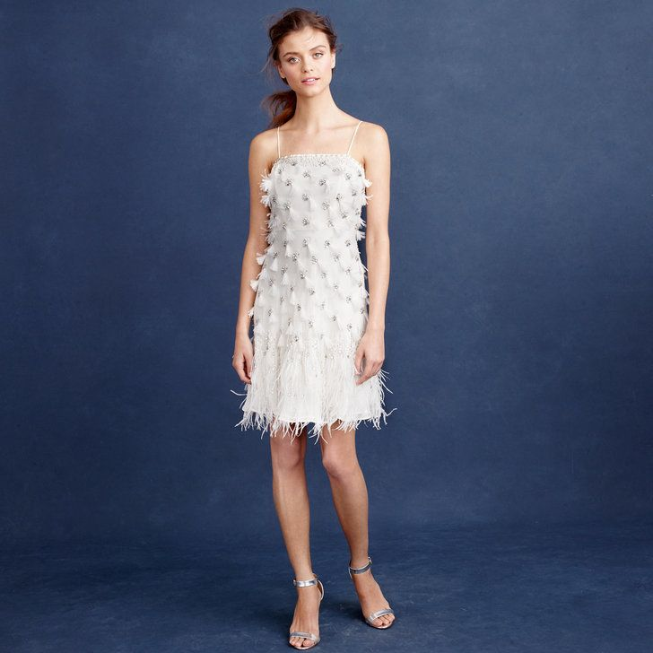 J. Crew Feather Flapper Dress ($1,200) | 20 Rehearsal Dinner Dresses That'll Make You the Most Confident Bride | POPSUGAR Fashion