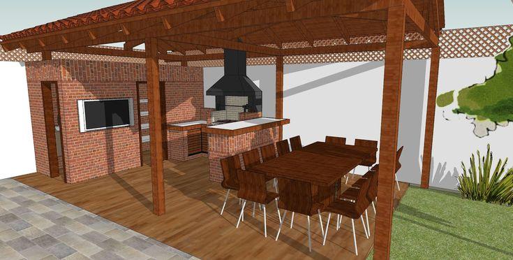 Dise os de asadores para terrazas buscar con google for Diseno de jardin