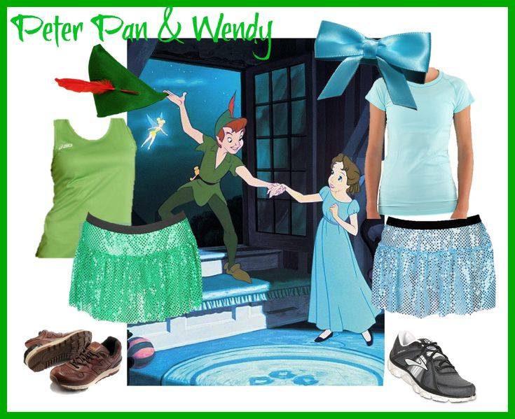 A partner costume idea for Peter Pan and Wendy Darling. @runteamsparkle @runDisney