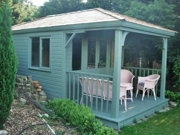 Wild Thyme Summerhouse with Decking and Cedar Shingle Roof Made By West Lancs…