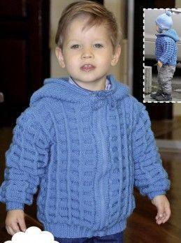 Chaqueta con capucha para niño