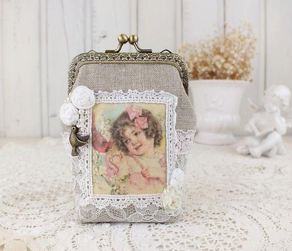 Kisslock purse Coin purse clasp Card holder wallet Small