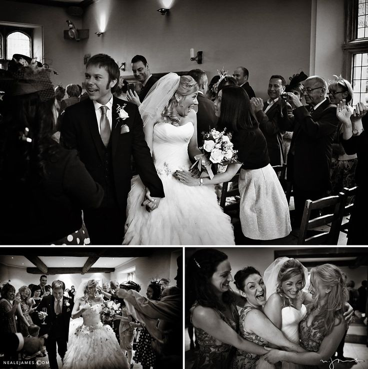 Black and white wedding photography from a wedding at Notley Abbey via nealejames.com