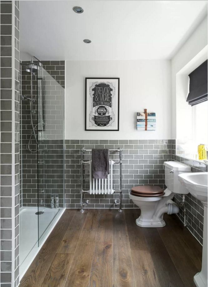 Great Choosing New Bathroom Design Ideas 2016. Metro Tile Blocks Are Always In  Harmony With Utilitarian Part 21