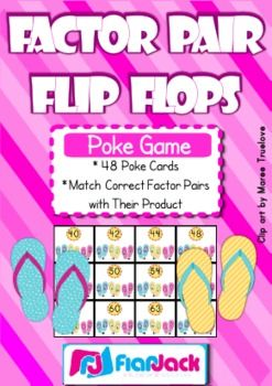 Factors Have fun in the sun with flip flops and factor pairs. Students