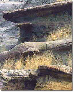 erosion sculpts into the Big Muddy Badlands of Southern Sask