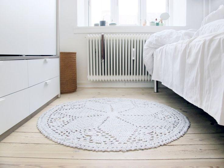 soveværelse indretning med diy tæppe