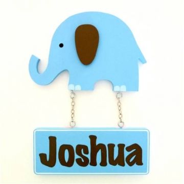 53 best name plaques for kids images on pinterest babies rooms door name plaque for kids door motif plaque elephant blue and chocolate negle Image collections