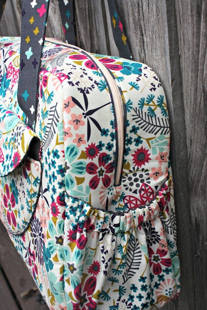 The Aragon Bag PDF sewing pattern is rated as an intermediate-level pattern by the designer, Sara Lawson of Sew Sweetness, and although it was meant for the new mommy as a diaper bag, it would als...