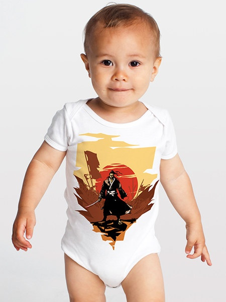 Last Man Standing Samurai Infant OnePiece by SamuraiTee on Etsy, $18.00