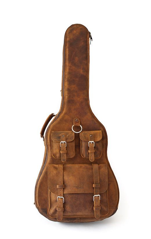 leather guitar case by Whipping + Post