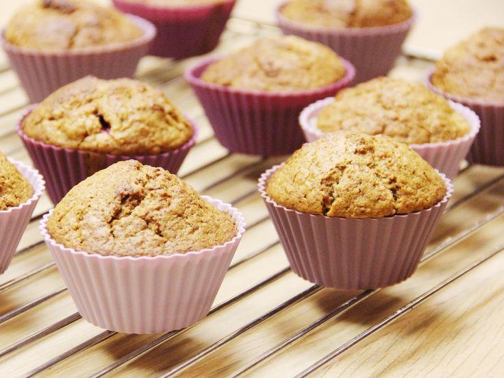 Uma receita de muffins vegan, sem ovo nem leite de vaca. Contudo, é uma receita deliciosa para qualquer amante de muffins