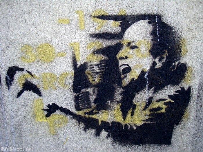 evita eva peron stencil graffiti buenos aires buenosairesstreetart.com
