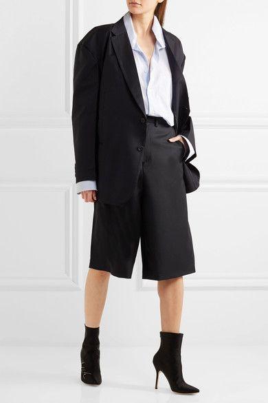 Vetements - Brioni Split-back Wool Shorts - Black -