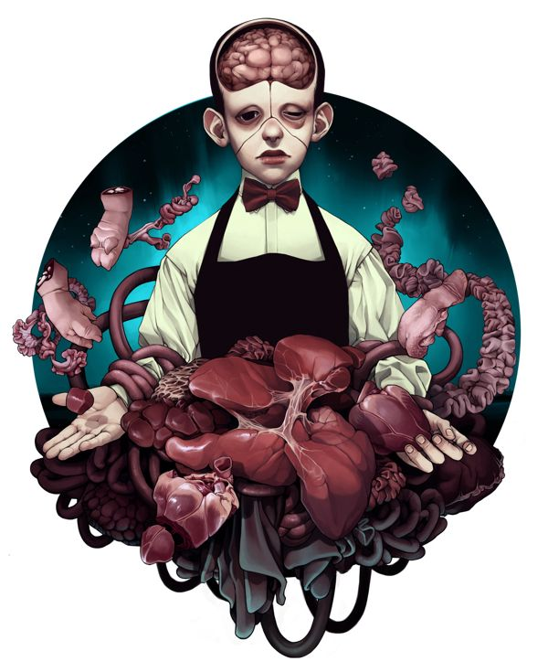 Butcher's Boy by Tiia Reijonen, via Behance