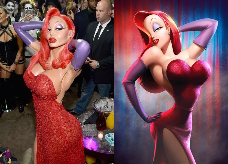 Watch Heidi Klum Become Jessica Rabbit for Halloween - Heidi Klum Halloween Costume Transformation