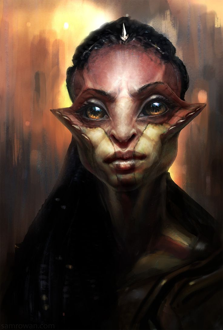 Random alien girl , sam rowan on ArtStation at https://www.artstation.com/artwork/Wrgwy