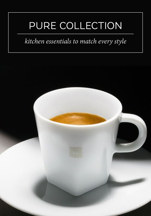 Each cup in Nespresso's Pure Collection has been designed with sophistication and style in mind. Sip and savor your favorite coffee creations in this versatile kitchen essential that will match almost any home decor style.