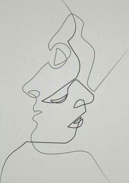 Contour Line Drawing Jio : Best self portrait contour line images on pinterest