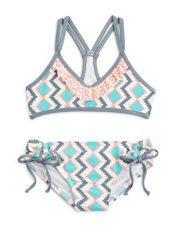 Splendid Girls' Geometric Print 2-Piece Swimsuit - Sizes 7-14