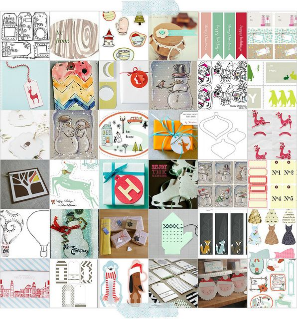 Here are over 100 free tags  or goodies to make 'em with