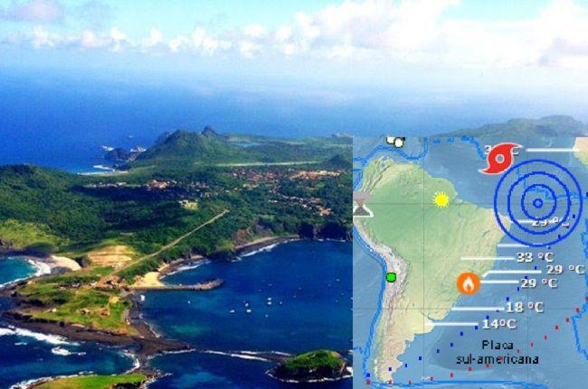 Terremoto De 6 9 Graus Atinge Oceano Atlantico Perto De Fernando De Noronha Oceano Atlantico Noronha Arquipelago