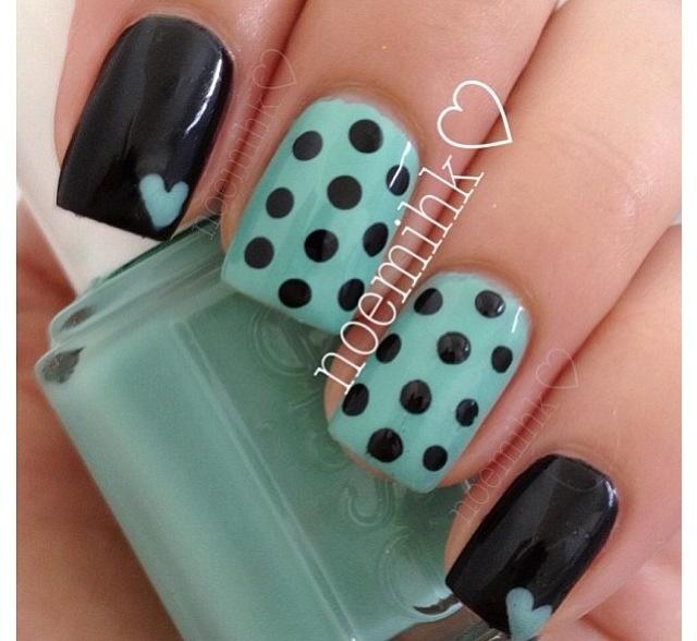 Favorite combo. Hearts and polka dots