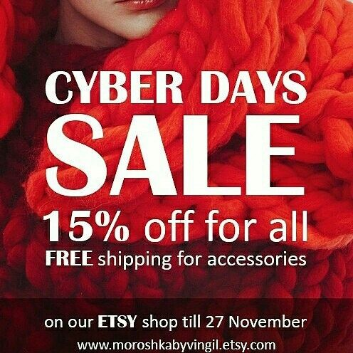 CYBER DAYS sale right now! On MOROSHKA by VINGIL Etsy shop. Join :)