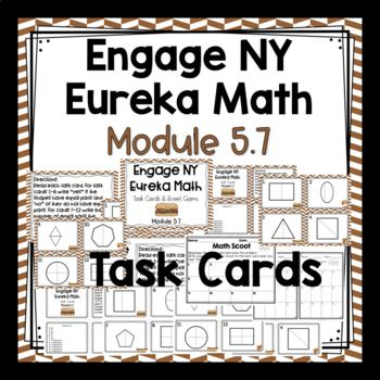Engage NY / Eureka Math - Math Centers or Task Cards 12 Task Cards -Colored Set and White Background Set (to save on ink). This product is meant to be a companion to Engage NY/ Eureka Math. I am not affiliated with Engage NY; Eureka Math. Use these to review your