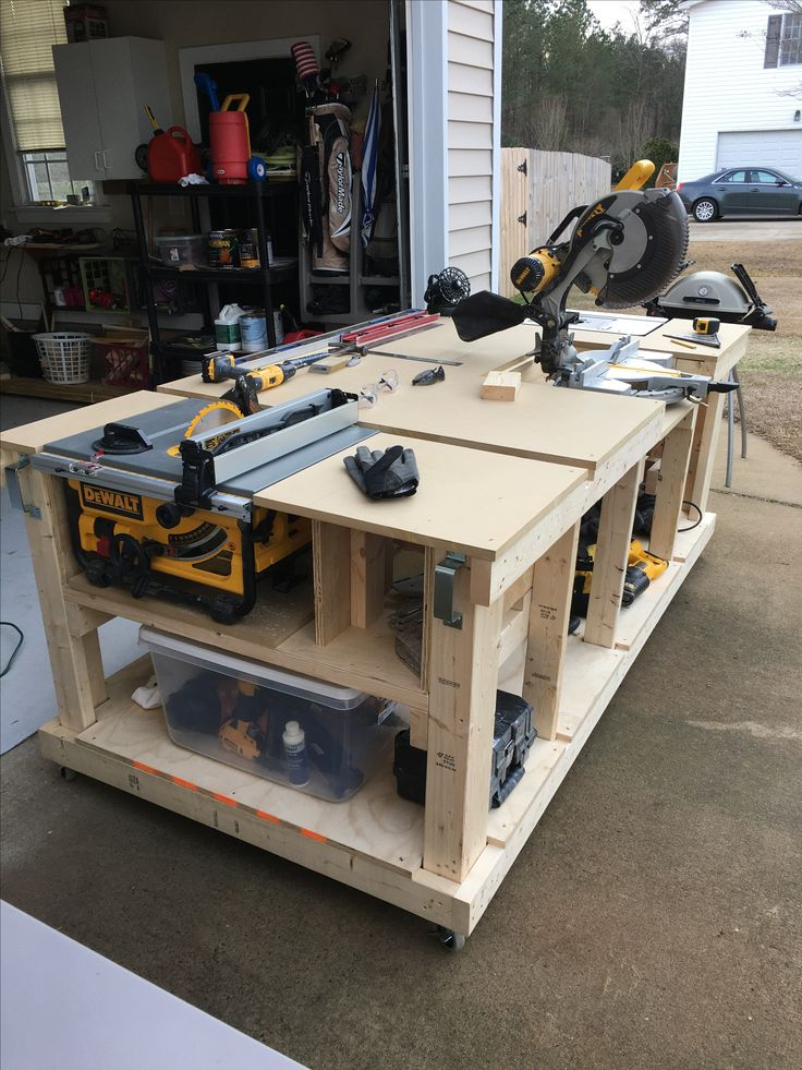 39 best woodworking shop projects images on pinterest for Table saw workbench woodworking plans