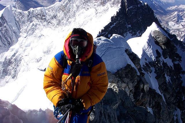 Climbing Everest by Governor Gary Johnson, via Flickr