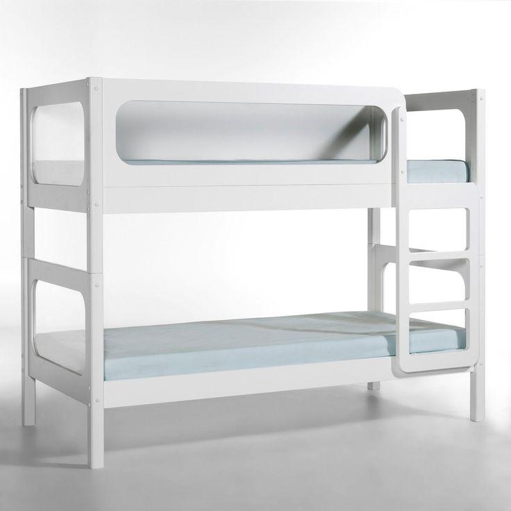 Lits superposés Pilha AM.PM : prix, avis & notation, livraison. Séparables, ces lits superposés, à la ligne épurée et contemporaine, se transforment en 2 lits jumeaux ou en 1 lit et 1 banquette ! CARACTERISTIQUES- Structure en MDF et épicéa massif, laqué blanc, finition vernis polyuréthane. DESCRIPTIF- Fenêtres en plexiglas.- Pieds en épicéa massif.- Sommiers à lattes.- Livrés sans matelas.Matelas vendu séparément.DIMENSIONSDimensions couchage : 90 x 190 cm.Dimensions totales : L. 200 x H…