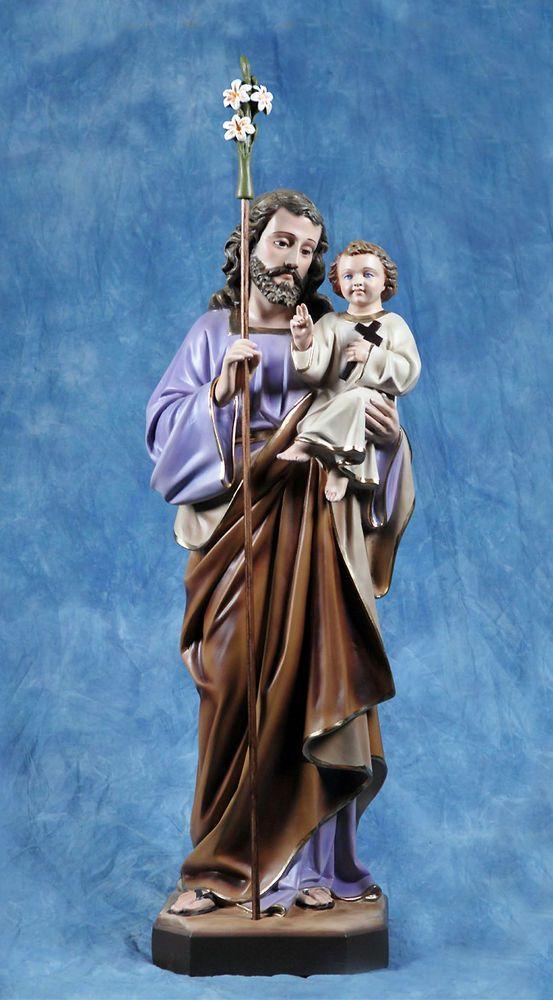 Statua San Giuseppe con Bambino cm85 in resina