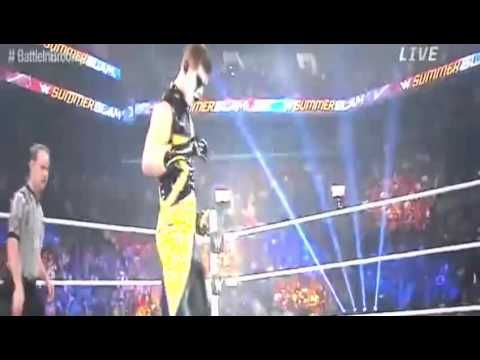 WWE Summerslam 2015- Neville and Stephen Amell vs. Stardust and King Barrett - Full Match