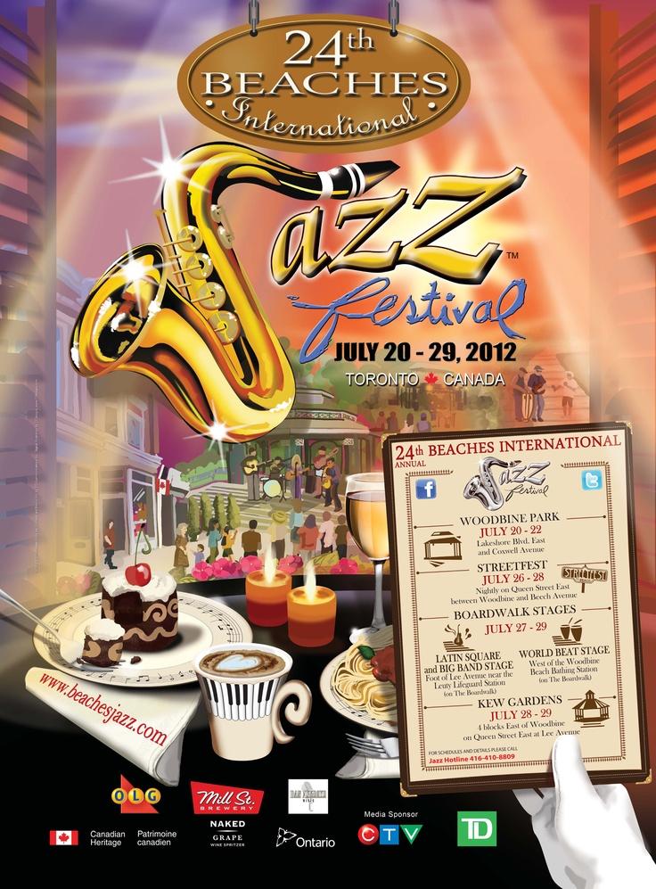 24th Beaches International Jazz Festival Poster 2012