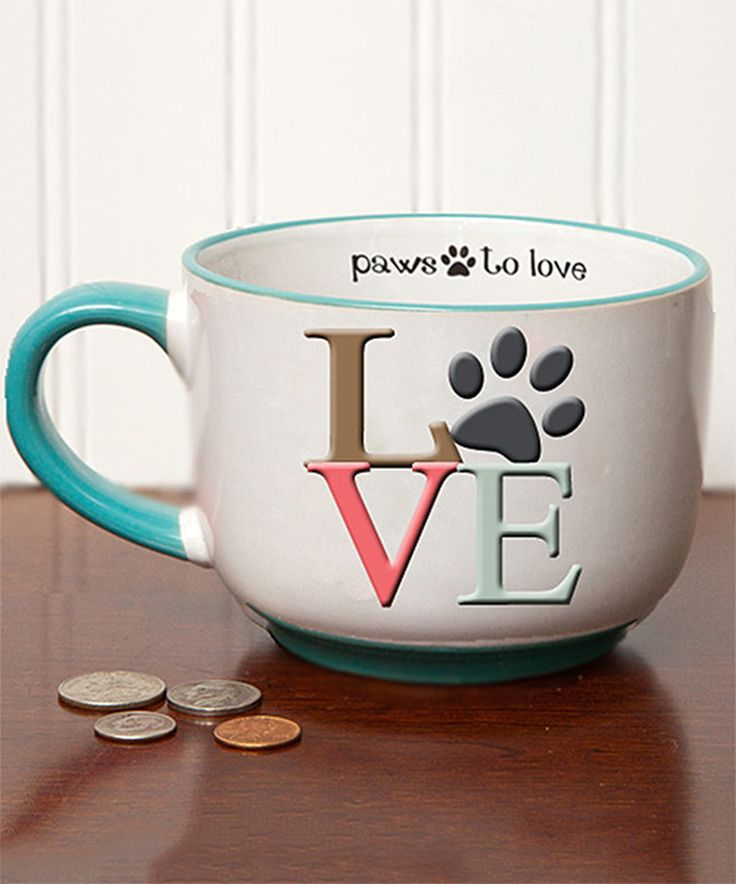 'Love' Paw Print Pet Cappuccino Mug by Tumbleweed #zulily #zulilyfinds