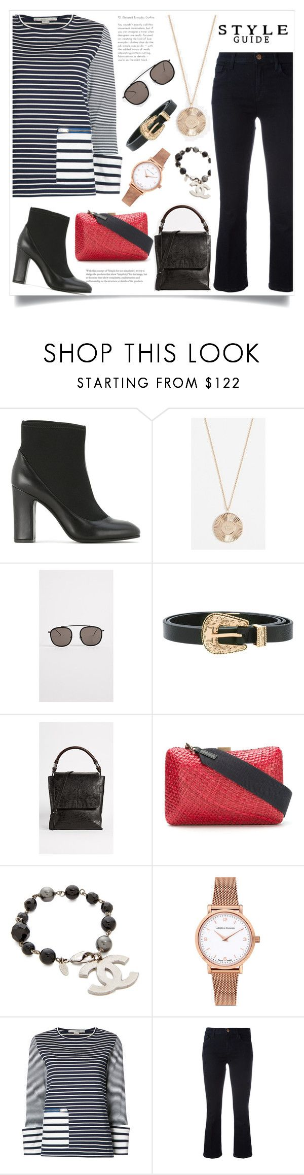 """set for amazing"" by monica022 ❤ liked on Polyvore featuring Sarah Chofakian, Jennifer Zeuner, Illesteva, B-Low the Belt, Rachel Comey, Serpui, Chanel, Larsson & Jennings, STELLA McCARTNEY and J Brand"