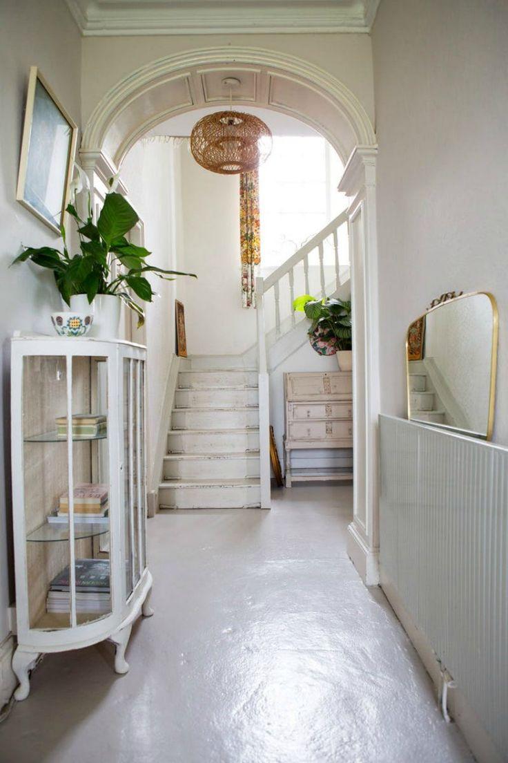 beautiful white hallway