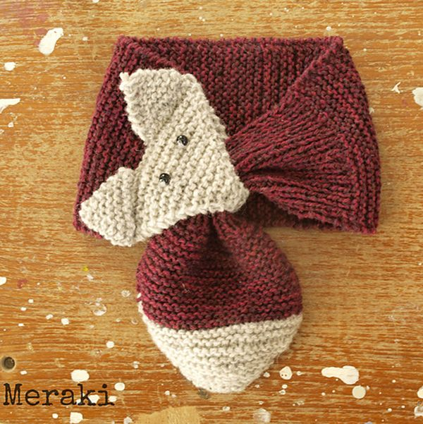 Kid knits: Free knitting patterns for babies - Fox scarf