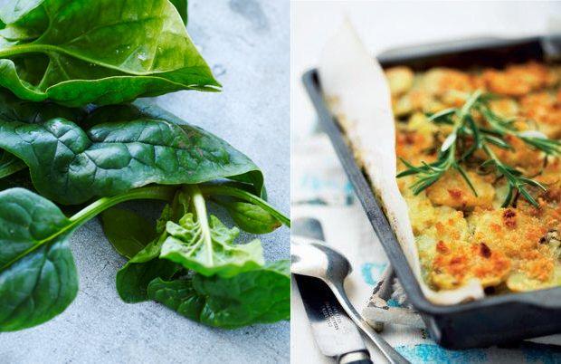 Ægte Skipper Skræk-mad! Server en cremet portion kartofler og spinat i fad til både hverdagsretter om som tilbehør til lækkert kød i weekenden.