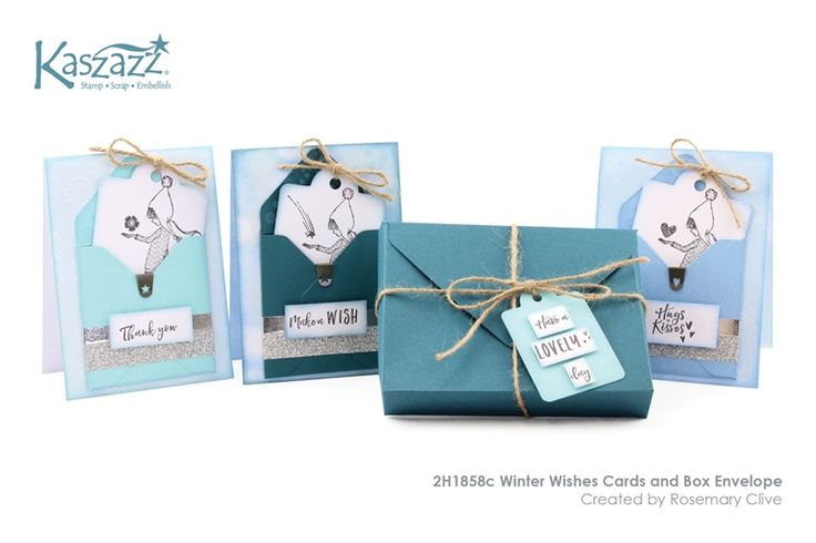2H1858c Winter Wishes Cards and Box Envelope