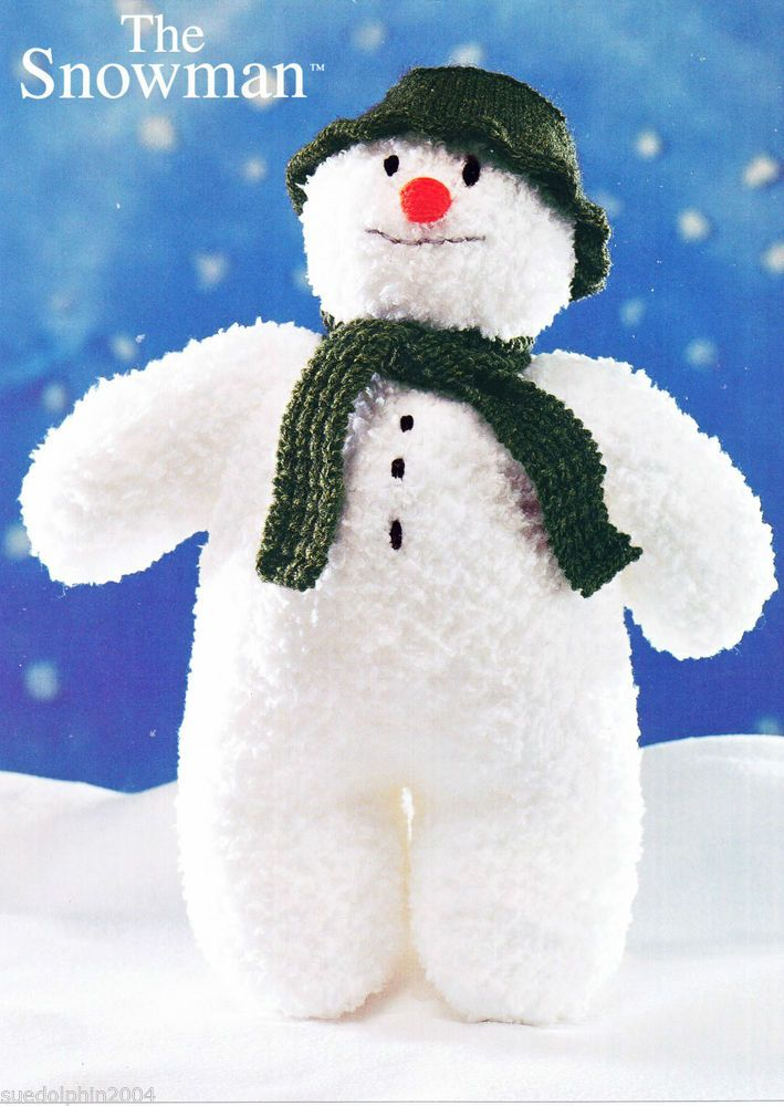 Knitting Pattern The Snowman Childrens Toy Doll