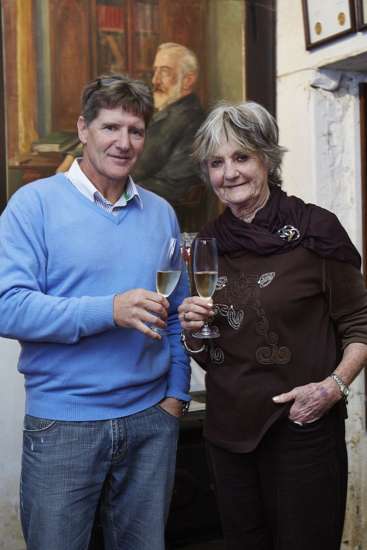 Annatjie Melck and her son Rijk Melck https://www.facebook.com/muratiewine/ www.muratie.co.za