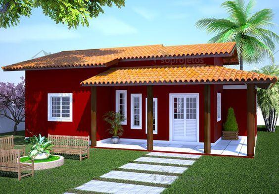 Casas Pequenas e Simples: 60 Plantas e Projetos   – casas pré fabricadas