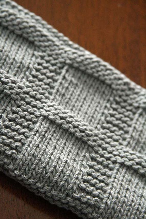 Knitting Pattern, PDF Dishcloth Pattern, Washcloth Instant Download, Bridgette…